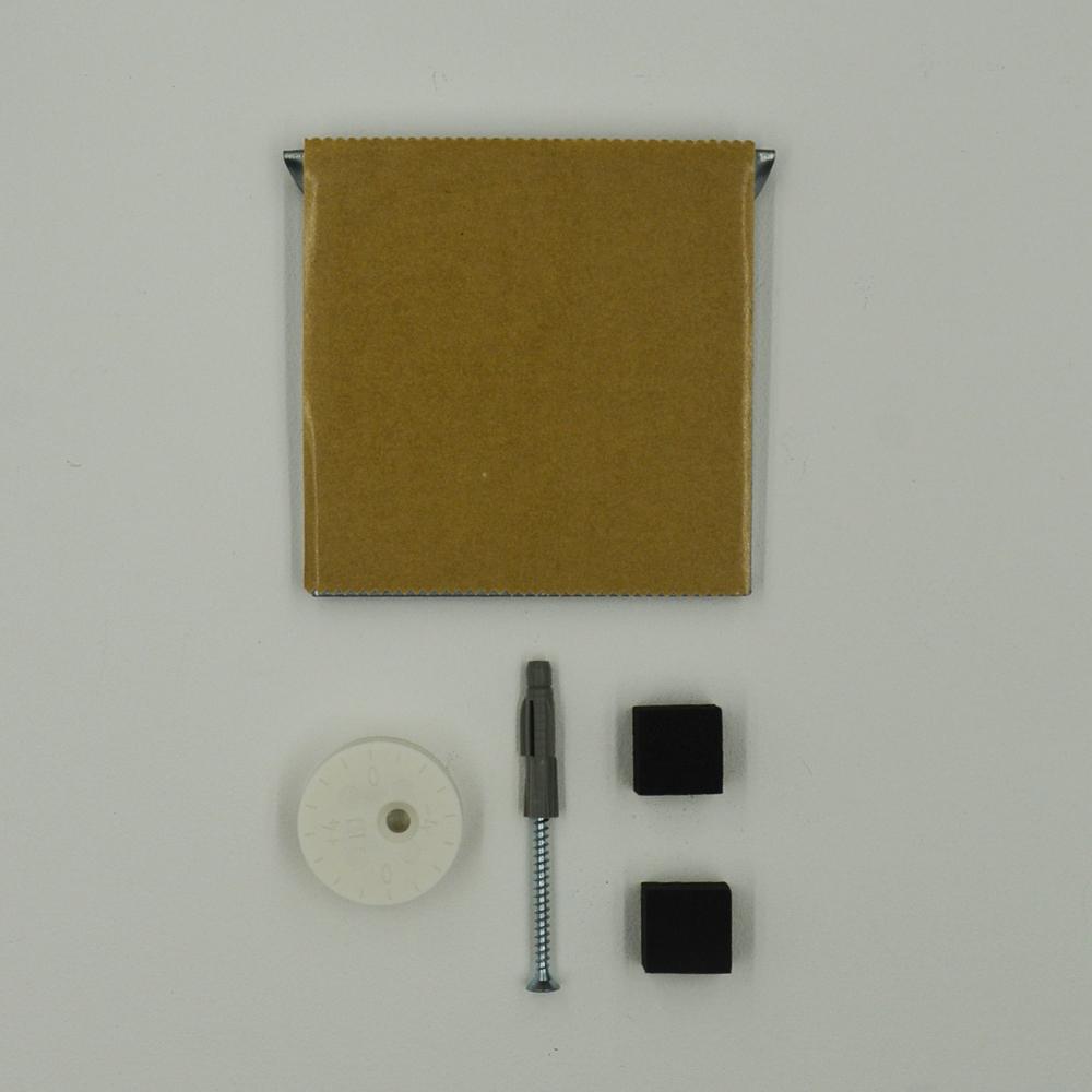 Kit de fixation murale anti-mouvement pour miroir, Dibond, signalétique - Charge maxi 12 kg