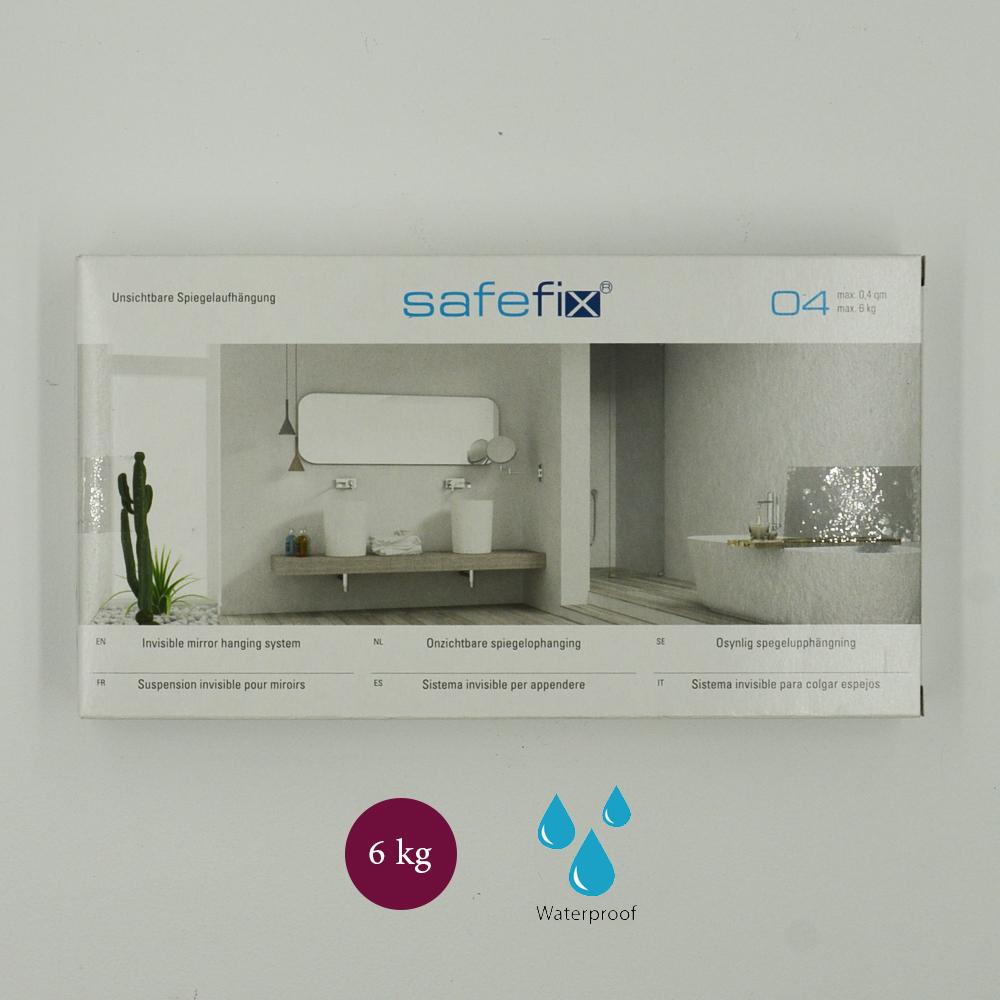 Kit de fixation murale pour miroir, Dibond, signalétique avec disques excentriques - Charge maxi 6 kg - SAFEFIX