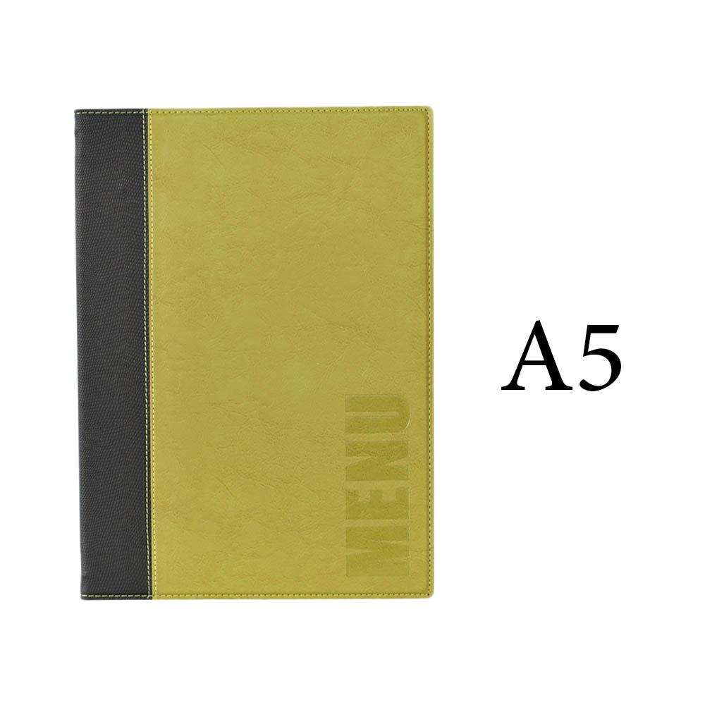 Protège-menu Tendance format A5 couleur vert - Porte menu hôtel restaurant - Securit