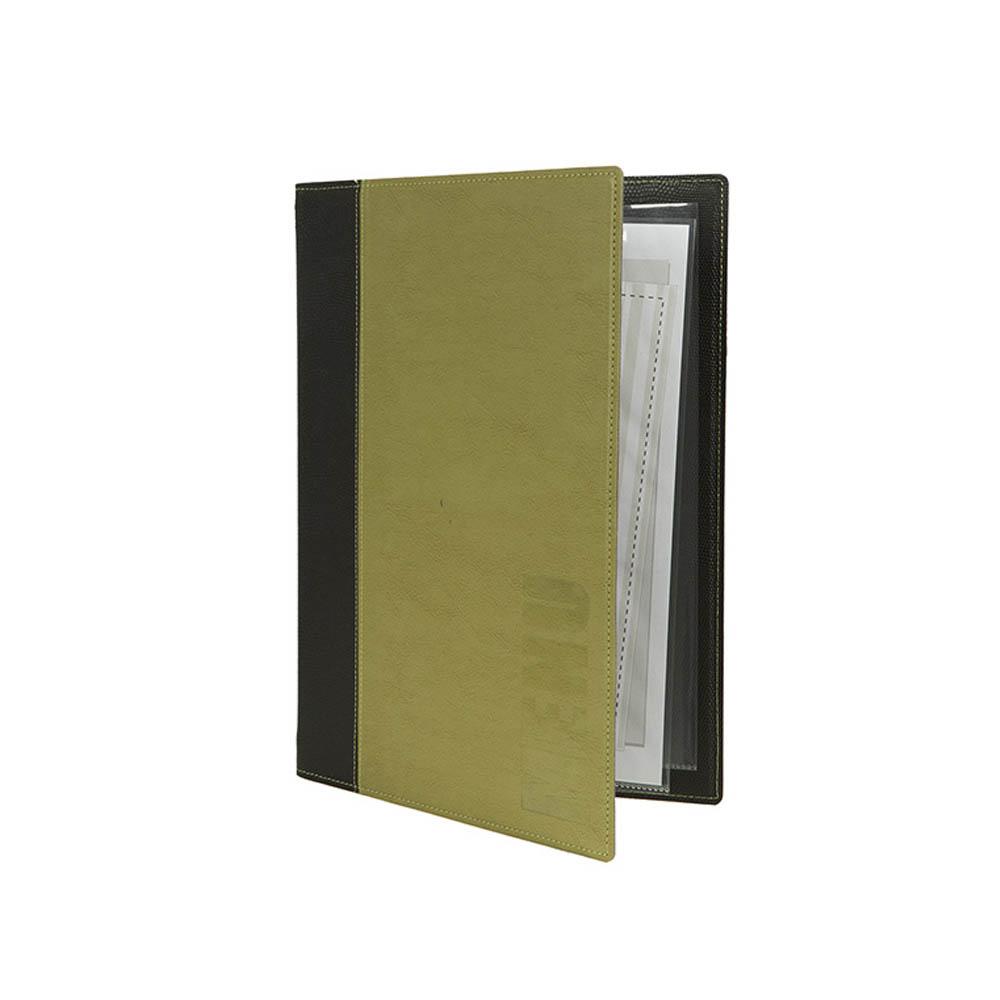 Protège-menu Tendance format A4 couleur vert - Porte menu hôtel restaurant - Securit