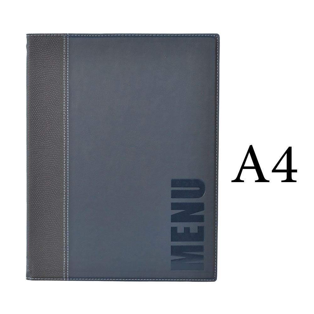 Protège-menu Tendance format A4 couleur bleu - Porte menu hôtel restaurant - Securit