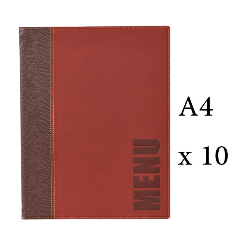 Lot 10 protège menu pour restaurant hôtel bordeaux format A4 modèle ...