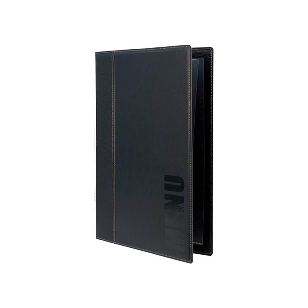 Protège-menu Tendance format A5 couleur noir - Porte menu hôtel restaurant - Securit