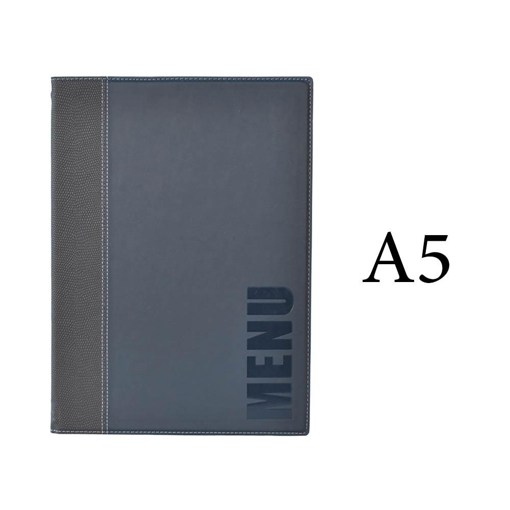 Protège-menu Tendance format A5 couleur bleu - Porte menu hôtel restaurant - Securit