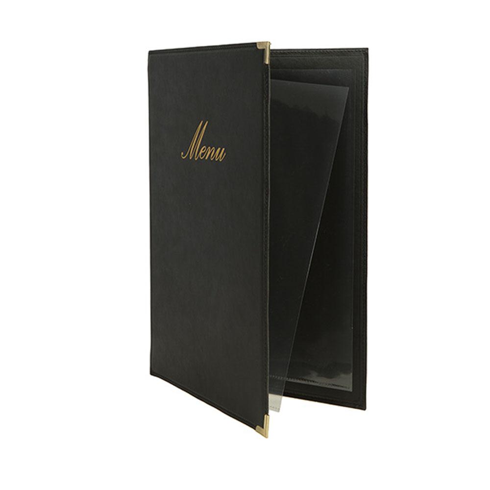 Protège-menu Classique format A4 couleur noir - Porte menu hôtel restaurant - Securit