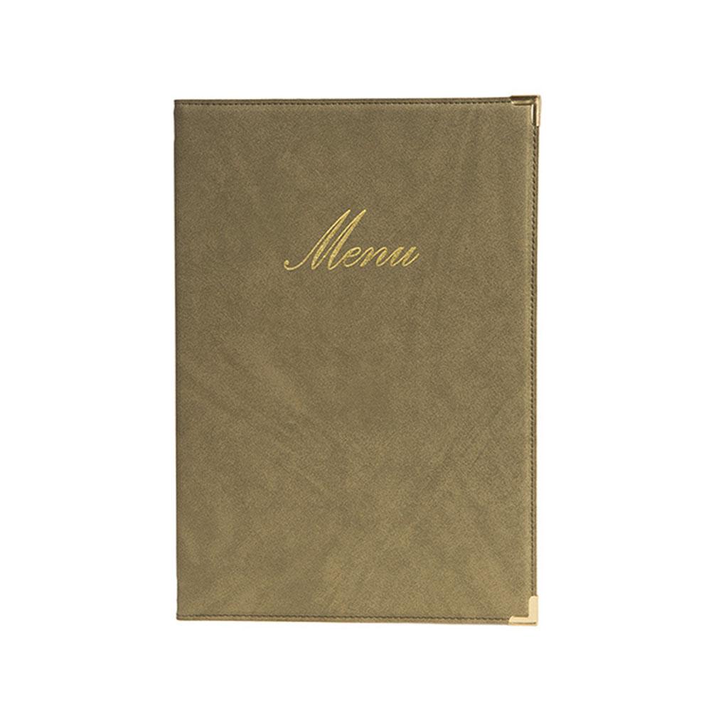 Protège-menu Classique format A5 couleur beige - Porte menu hôtel restaurant - Securit