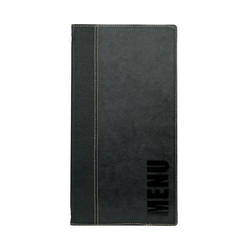 Lot 10 protège menu long Tendance format A45 couleur noir - Hôtel restaurant - Securit