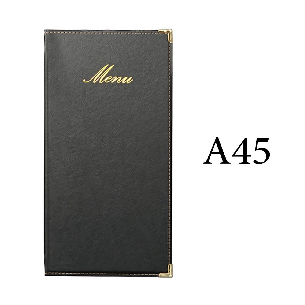 Protège menu long Classique format A45 couleur noir - Hôtel restaurant - Securit