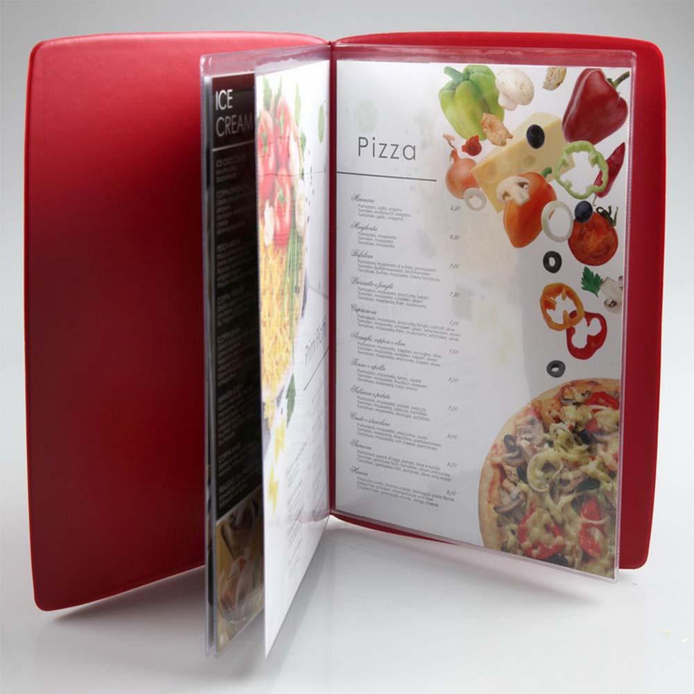 Lot de 5 protège menu POP format A4 couleur blanc matière PVC - Porte menu Hôtel Restaurant - DAG STYLE