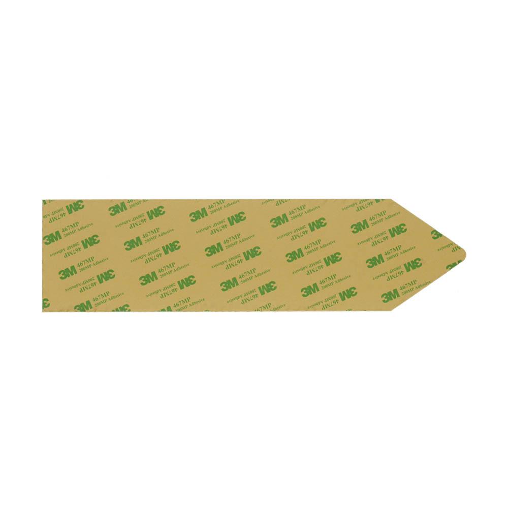 Panneau flèche directionnelle personnalisable - Couleur argent brossé - Signalétique intérieure / extérieure