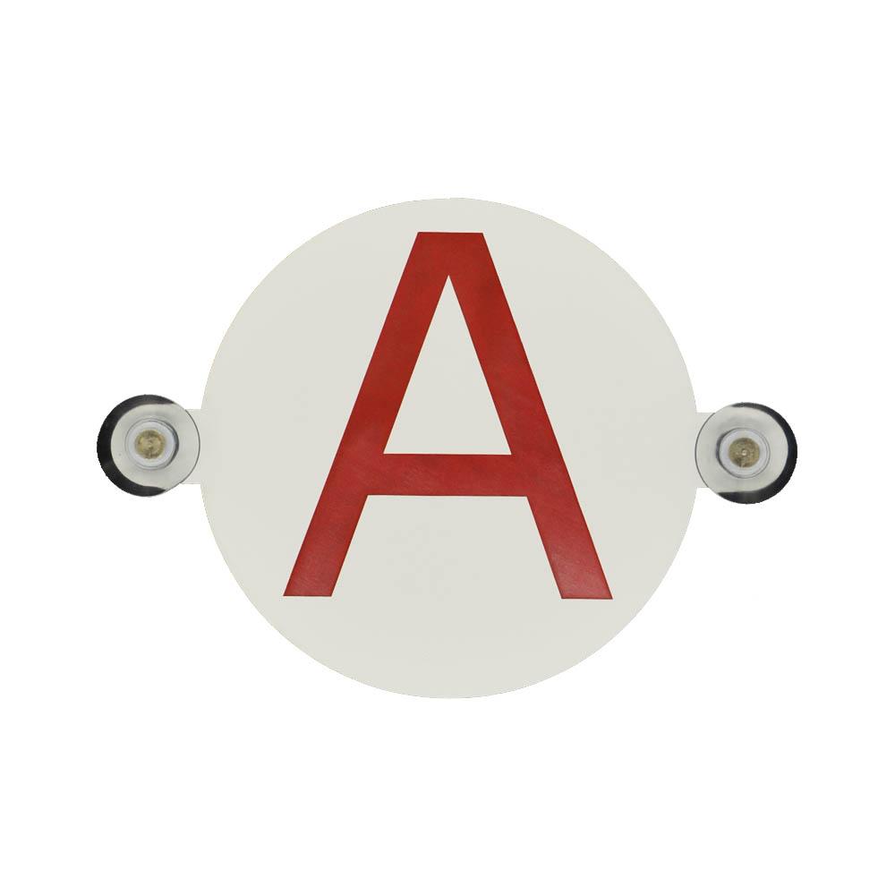 Disque à ventouses Conduite Accompagnée (ACC) et Permis B pour lunette arrière voiture Ø 15 cm