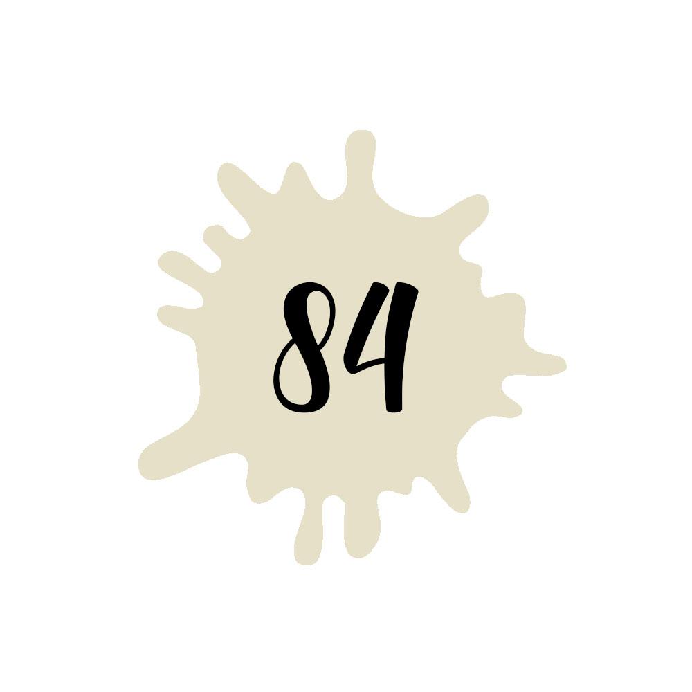 Numéro fantaisie personnalisable pour boite aux lettres couleur beige chiffres noirs - Modèle Splash