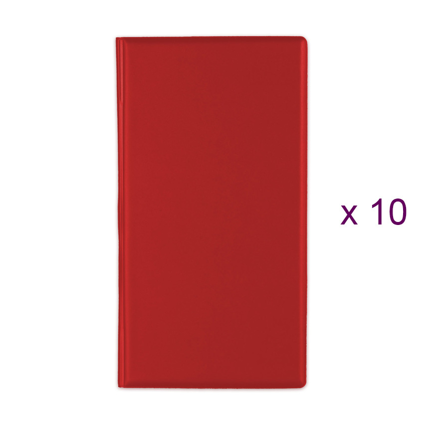 Lot de 10 Porte-additions RISTO rouge
