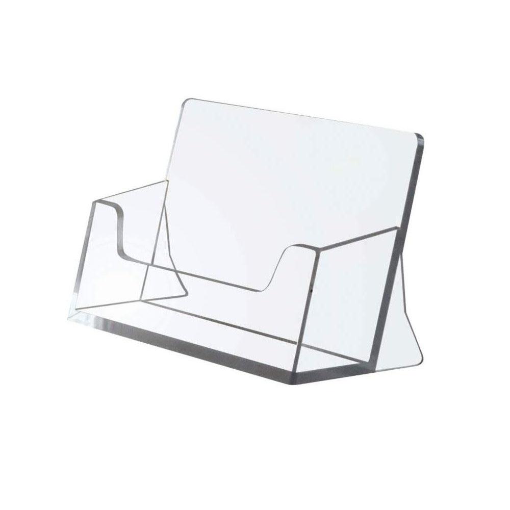 Présentoir porte carte de visite en plexiglass 1 case - Signalétique plexiglass accueil
