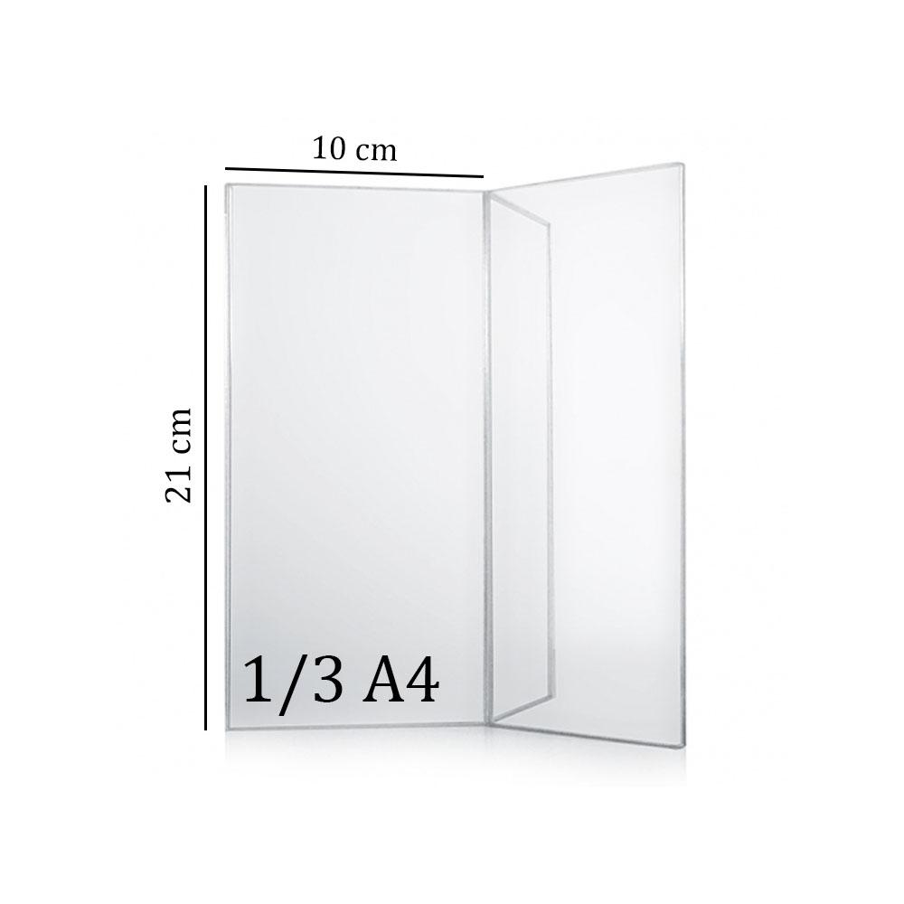 Porte menu de table en Y plexi - Porte affiche en Y 1/3 A4 pour comptoir hôtel restaurant terrasse