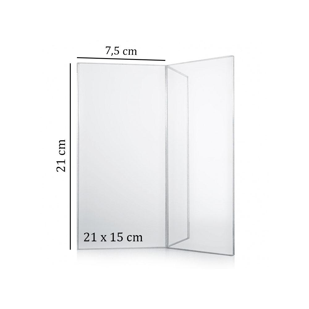 Porte menu de table en Y plexi - Porte affiche en Y  21 x 15 cm pour comptoir hôtel restaurant terrasse