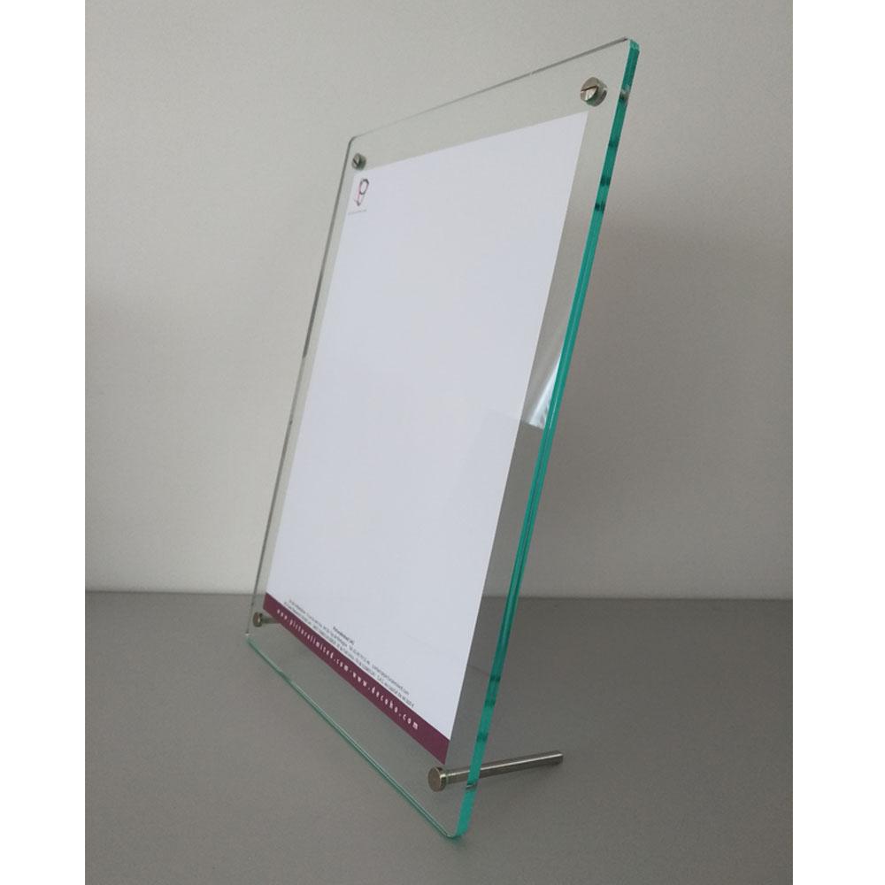 Porte visuel / Porte affiche format A4 pour comptoir - table avec 2 pieds