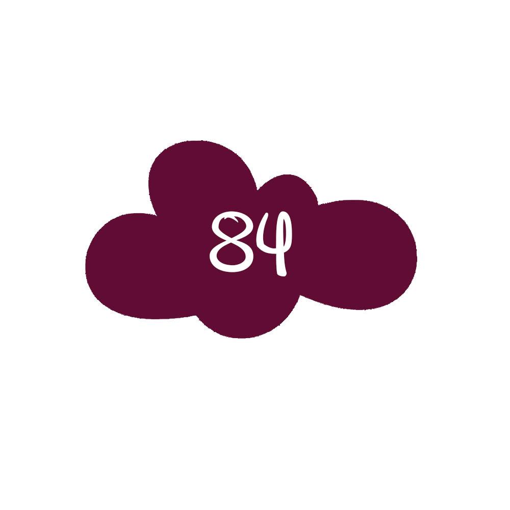 Numéro fantaisie personnalisable pour boite aux lettres couleur bordeaux chiffres blancs - Modèle Nuage