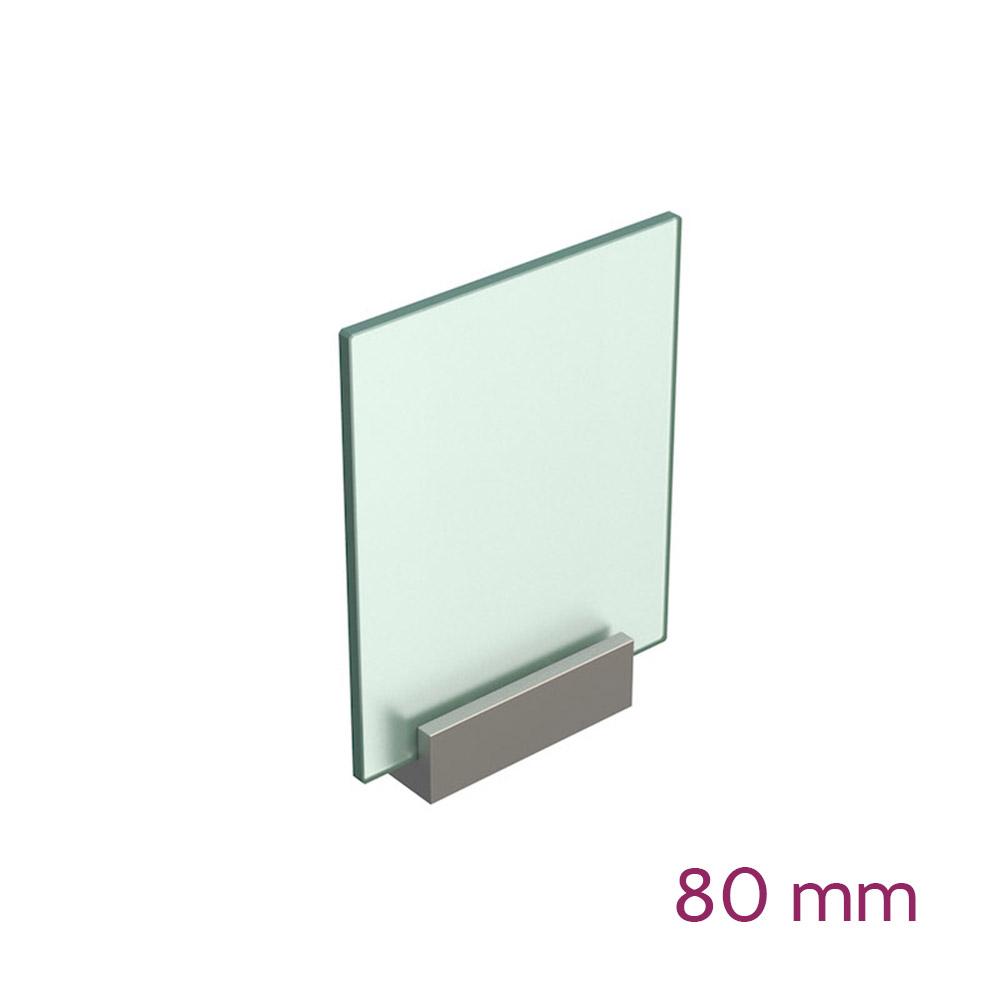 Lochwandhalterung für Schild max 8mm - Länge 80mm