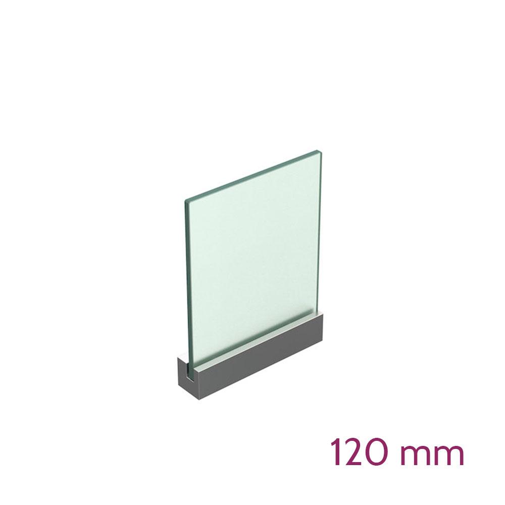 Lochwandhalterung für Schild max 8mm - Länge 120mm