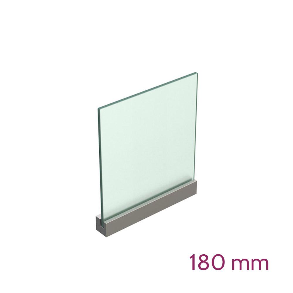 Lochwandhalterung für Schild max 8mm - Länge 180mm