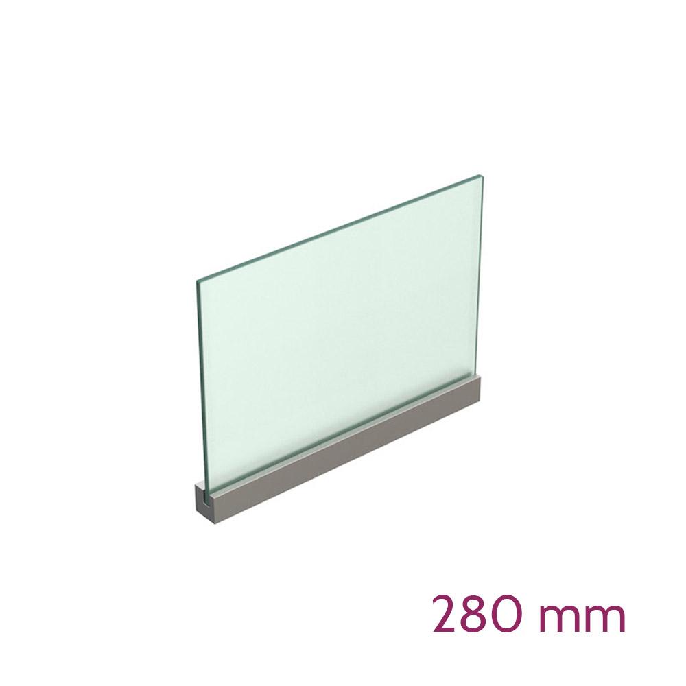 Lochwandhalterung für Schild max 8mm - Länge 280mm