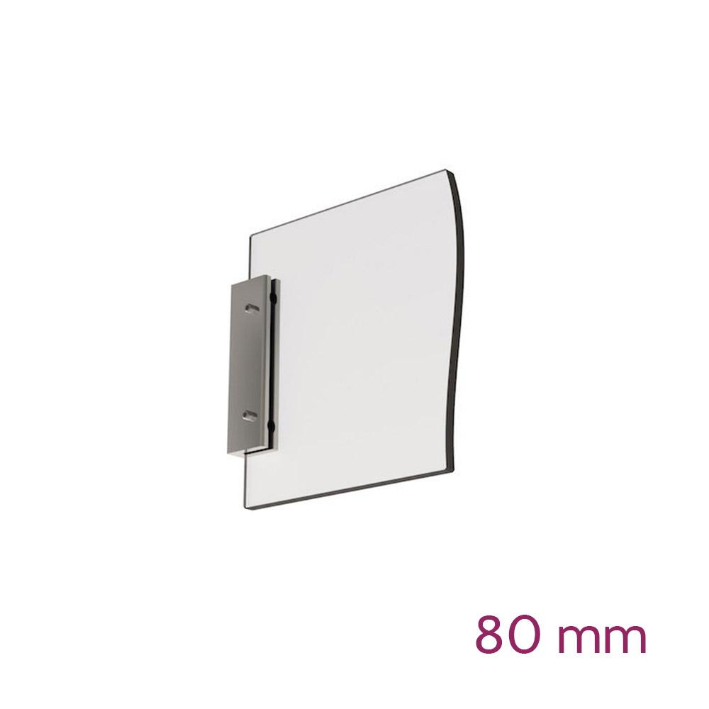 Doppelseitige Wandhalterung für Schild max 6mm - Länge 80mm