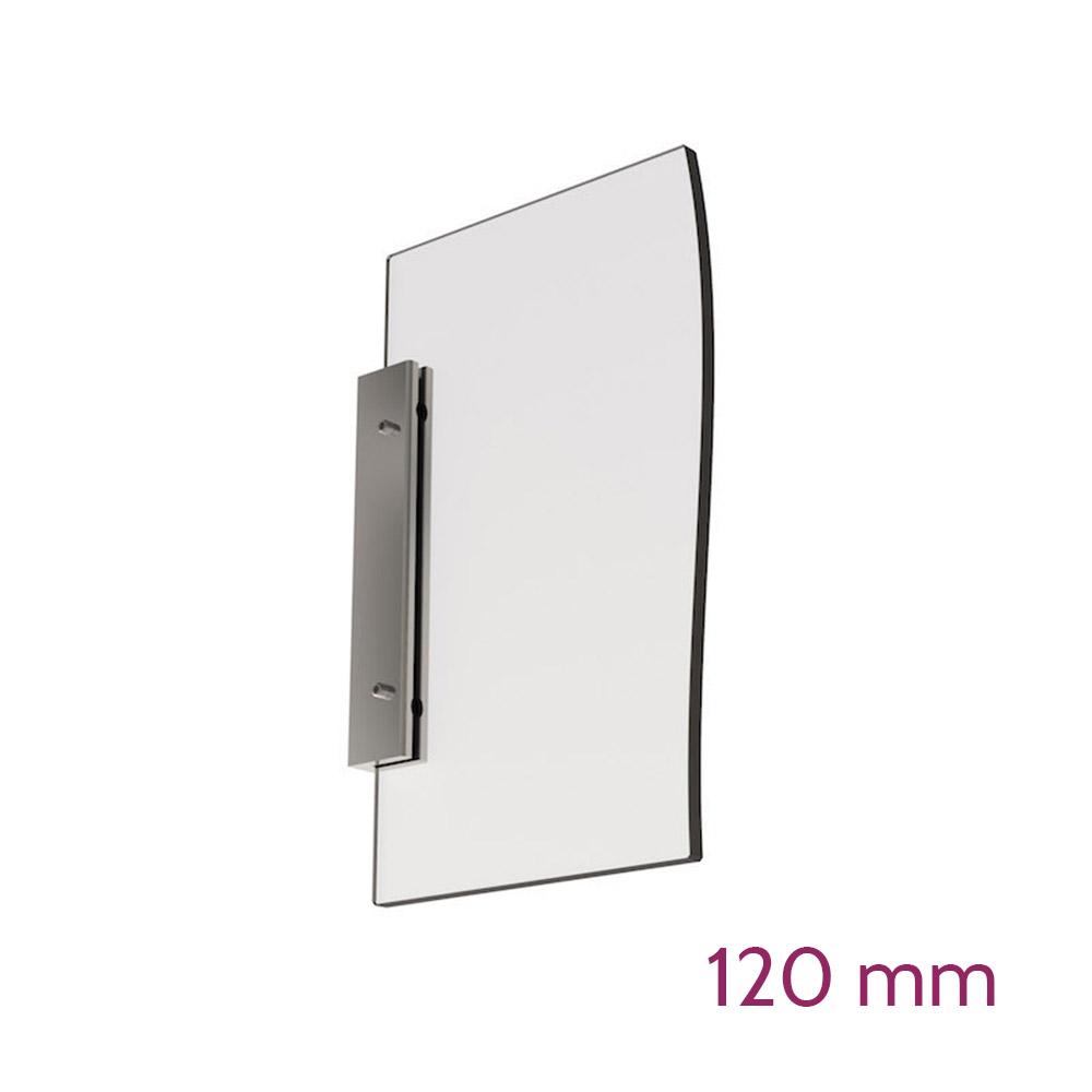 Doppelseitige Wandhalterung für Schild max 6mm - Länge 120mm