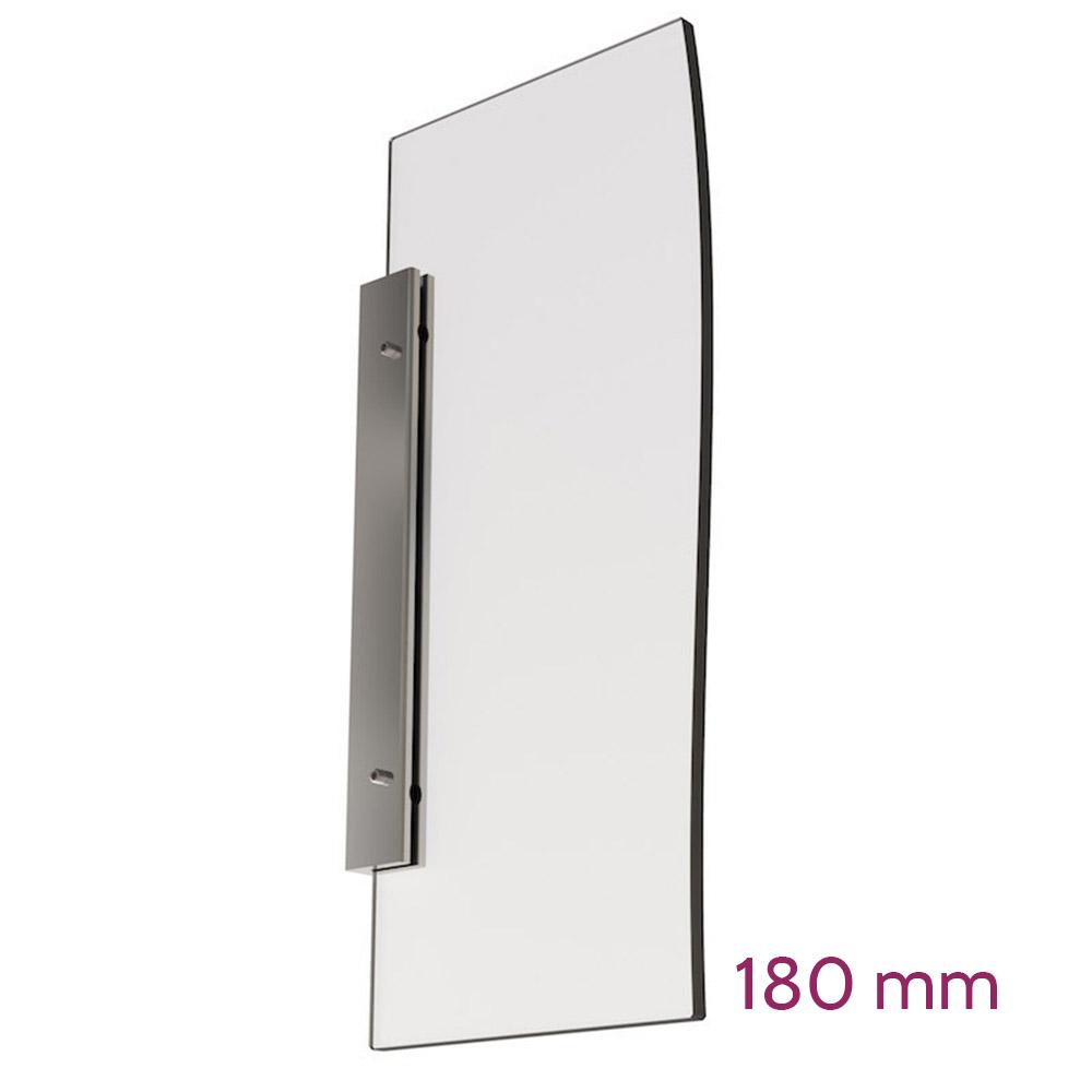 Doppelseitige Wandhalterung für Schild max 6mm - Länge 180mm