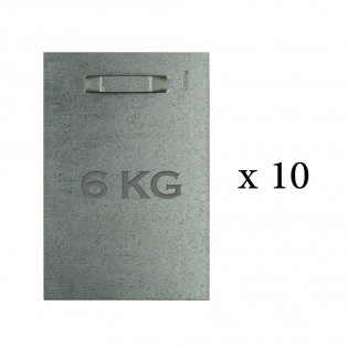 Pack of 10 adhesive fasteners 100x150 mm max 6 kg for indoor / outdoor - Dibond and mirror fixing
