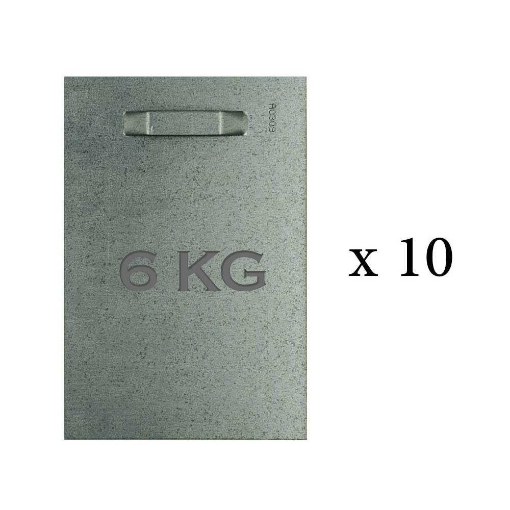 Lot de 10 attaches adhésives 100x150 mm max 6 kg pour intérieur / extérieur - Fixation Dibond et miroir