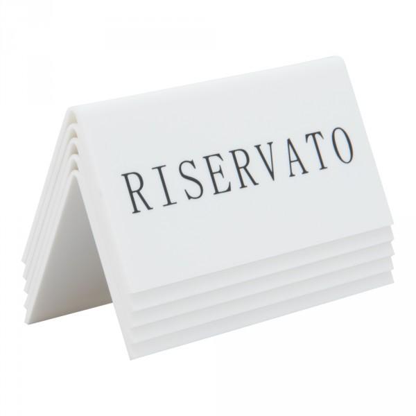 "5 Chevalets ""Reservato"""