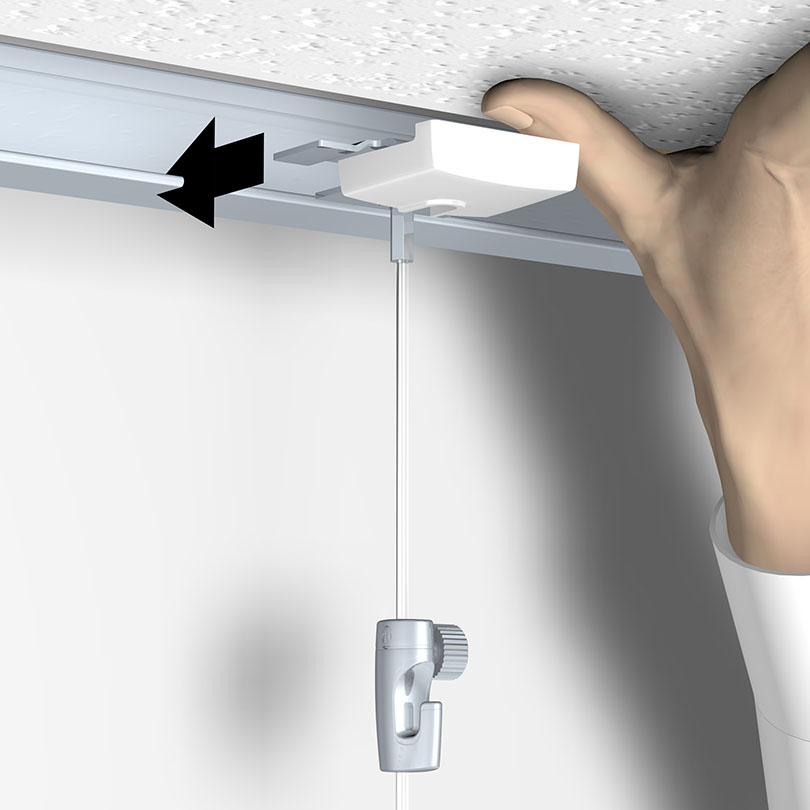 Ceiling Hanger : système d'accroche pour faux plafond