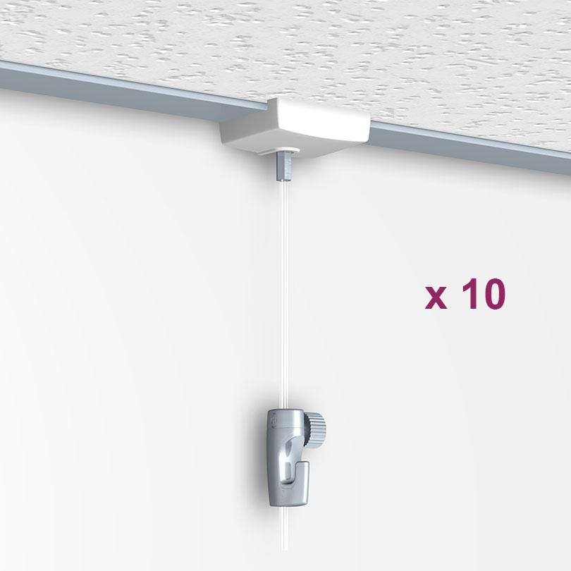 Boite de 10 Ceiling Hanger : système d'accroche pour faux plafond