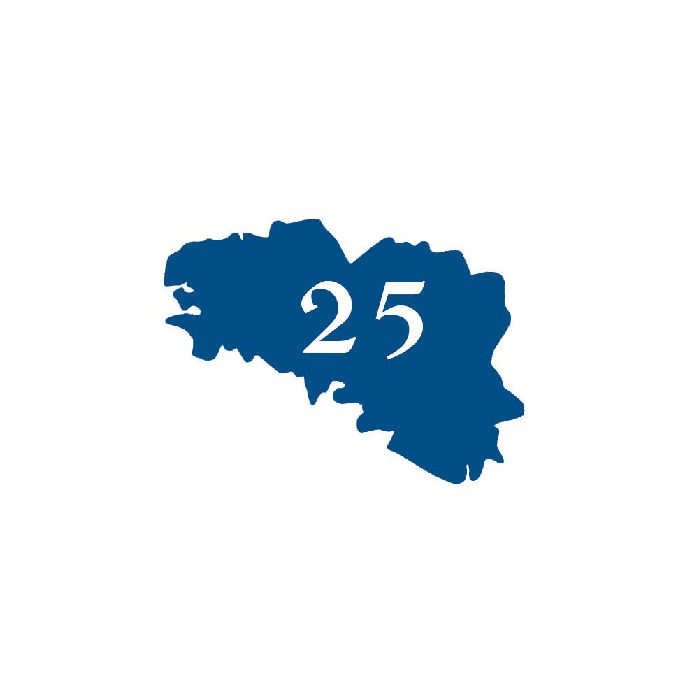 Numéro fantaisie personnalisable pour boite aux lettres couleur bleu chiffres blancs - Modèle région Bretagne