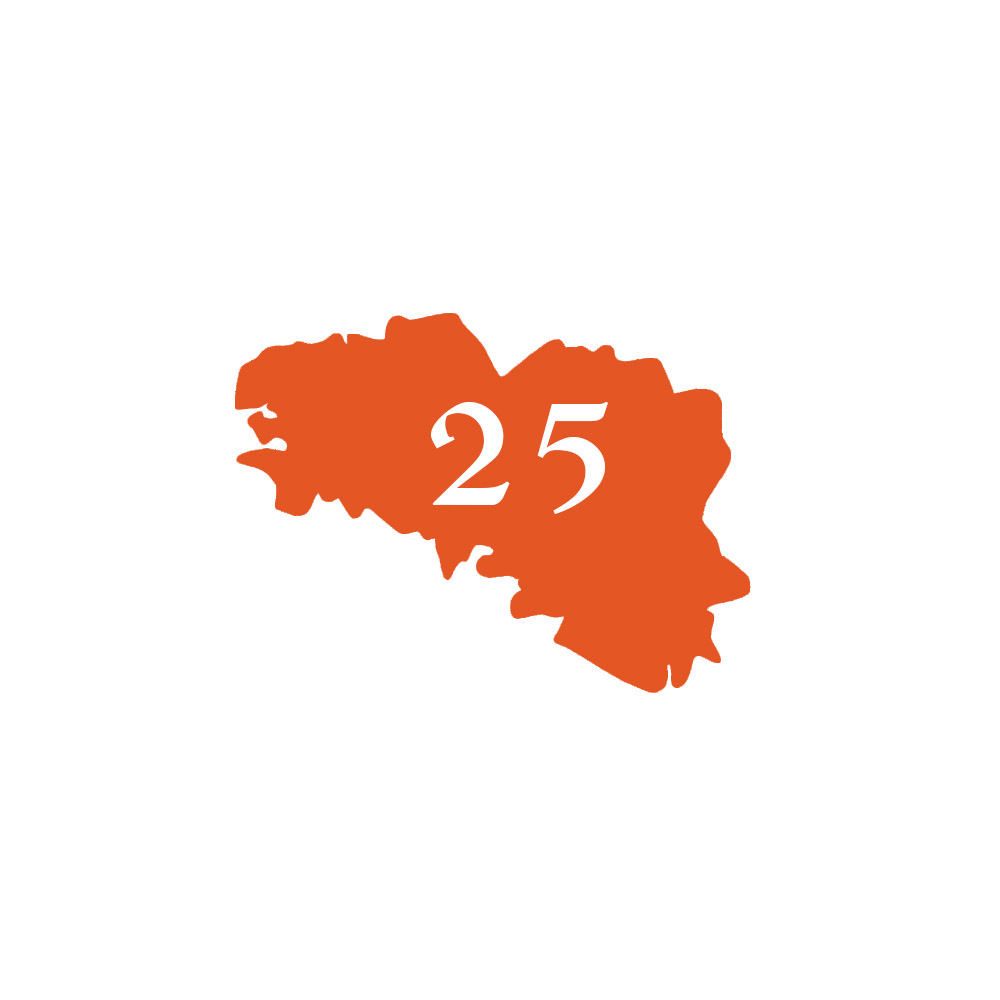 Numéro fantaisie personnalisable pour boite aux lettres couleur orange chiffres blancs - Modèle région Bretagne