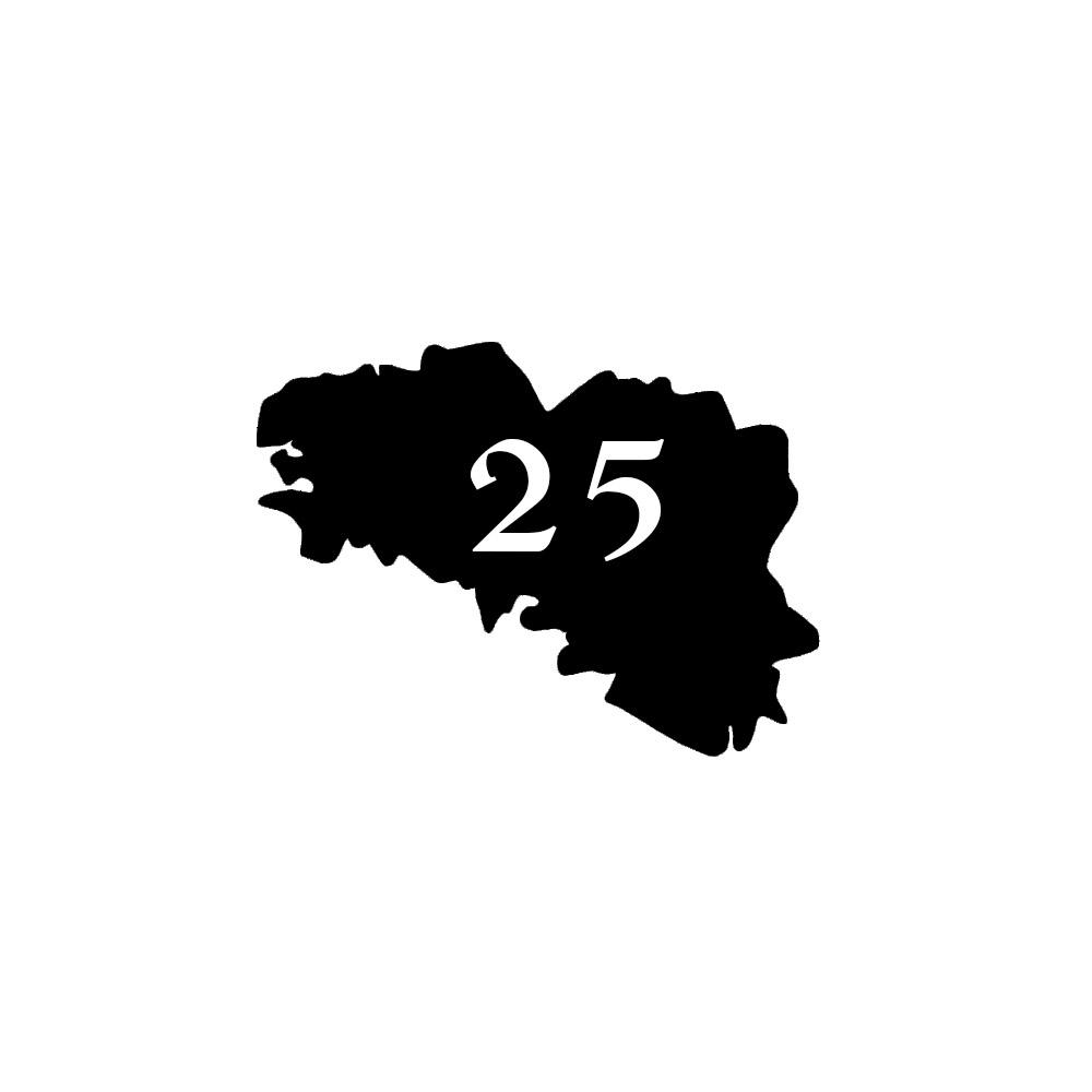 Numéro fantaisie personnalisable pour boite aux lettres couleur noir chiffres blancs - Modèle région Bretagne