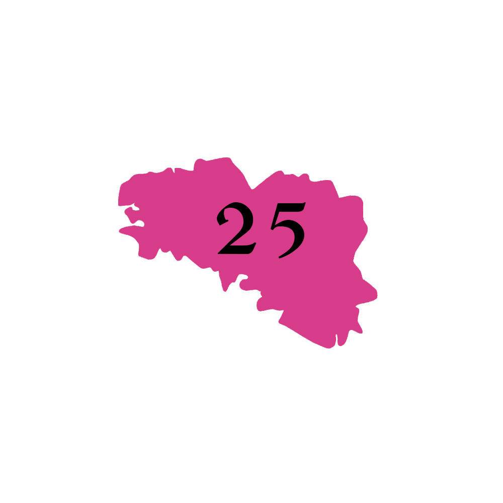 Numéro fantaisie personnalisable pour boite aux lettres couleur rose chiffres noirs - Modèle région Bretagne