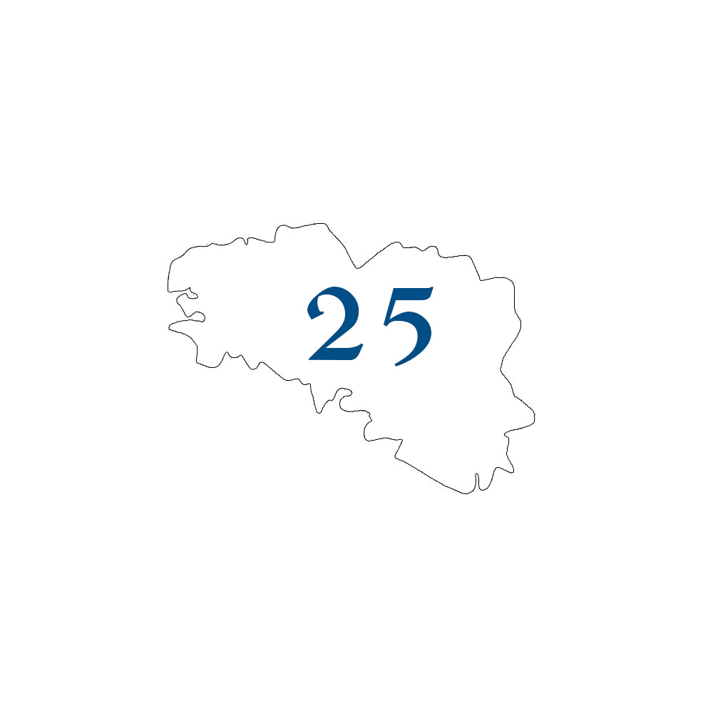 Numéro fantaisie personnalisable pour boite aux lettres couleur blanc chiffres bleus - Modèle région Bretagne