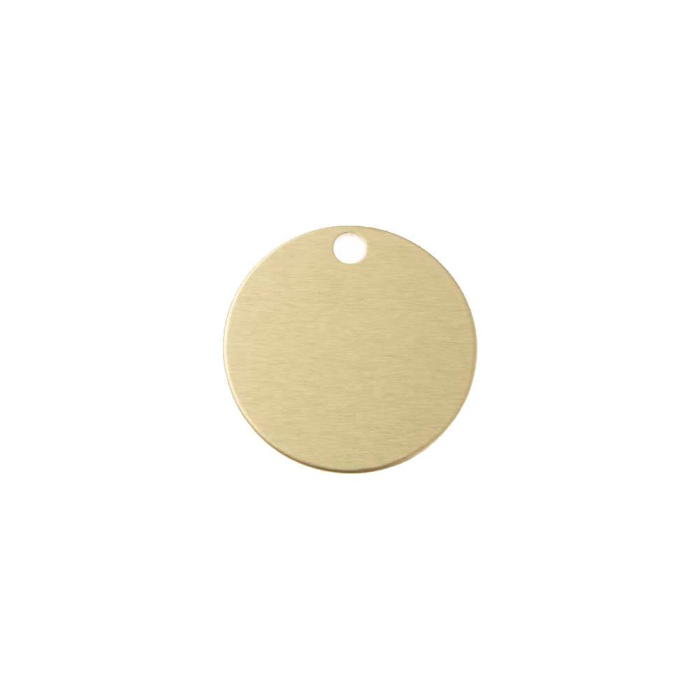 Grande médaille ronde Or pour chien et chat avec gravure personnalisée 1 à 2 lignes - Diamètre 32 mm