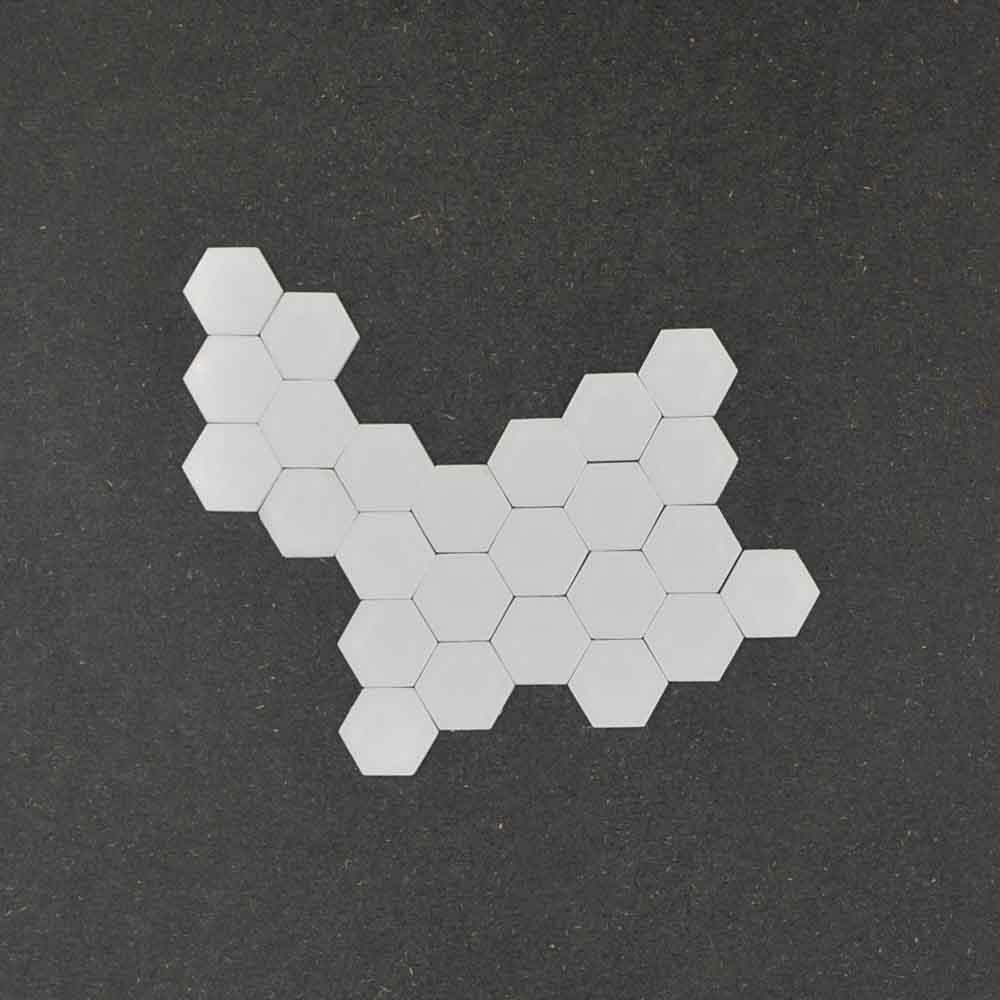25 miroirs autocollants acryliques 3D pour décoration murale mosaique avec adhésif 3M - Forme Hexagone