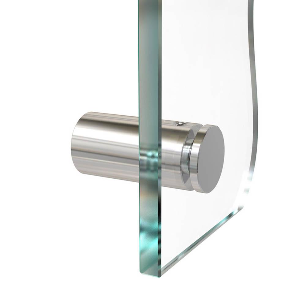 Entretoise percée en Inox poli Ø 15 mm projection 25 mm - Fixation murale de signalétique, pictogrammes, panneaux plexiglass