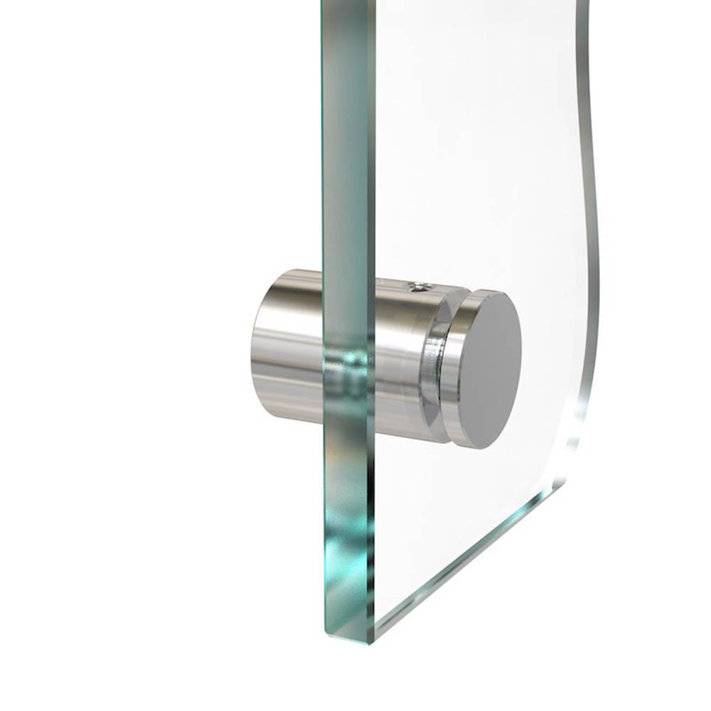 Entretoise percée en Inox poli Ø 15 mm projection 15 mm - Fixation murale de signalétique, pictogrammes, panneaux plexiglass