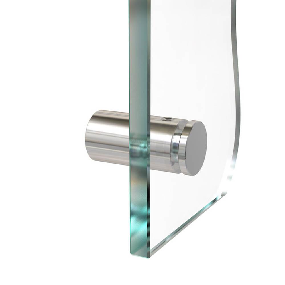 Entretoise percée en Inox poli Ø 13 mm projection 20 mm - Fixation murale de signalétique, pictogrammes, panneaux plexiglass