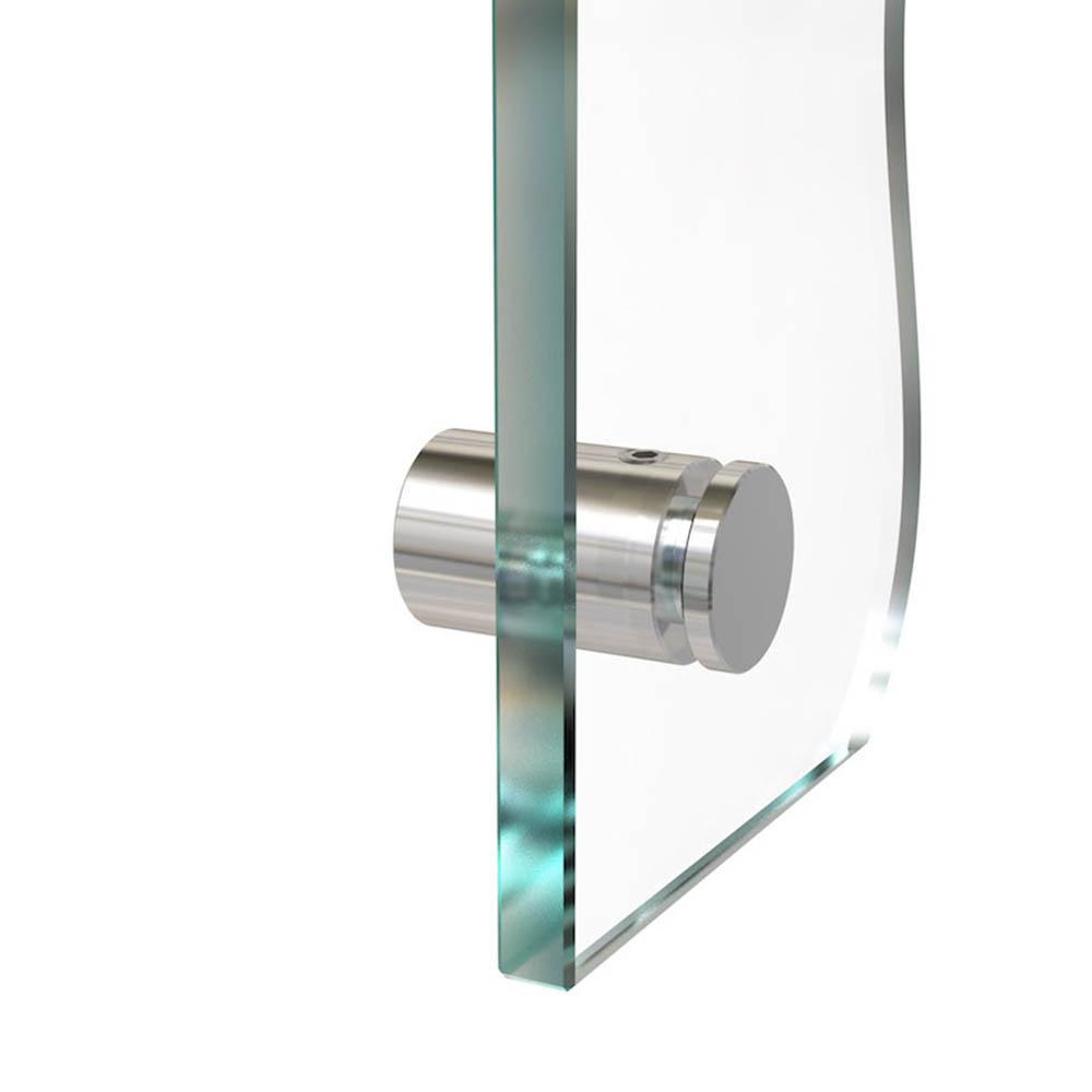 Entretoise percée en Inox poli Ø 13 mm projection 15 mm - Fixation murale de signalétique, pictogrammes, panneaux plexiglass
