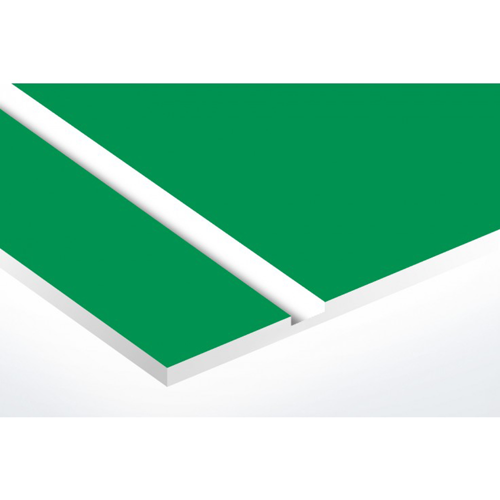 Plaque boite aux lettres Decayeux COEUR VENDEEN (100x25mm) vert pomme lettres blanches - 2 lignes