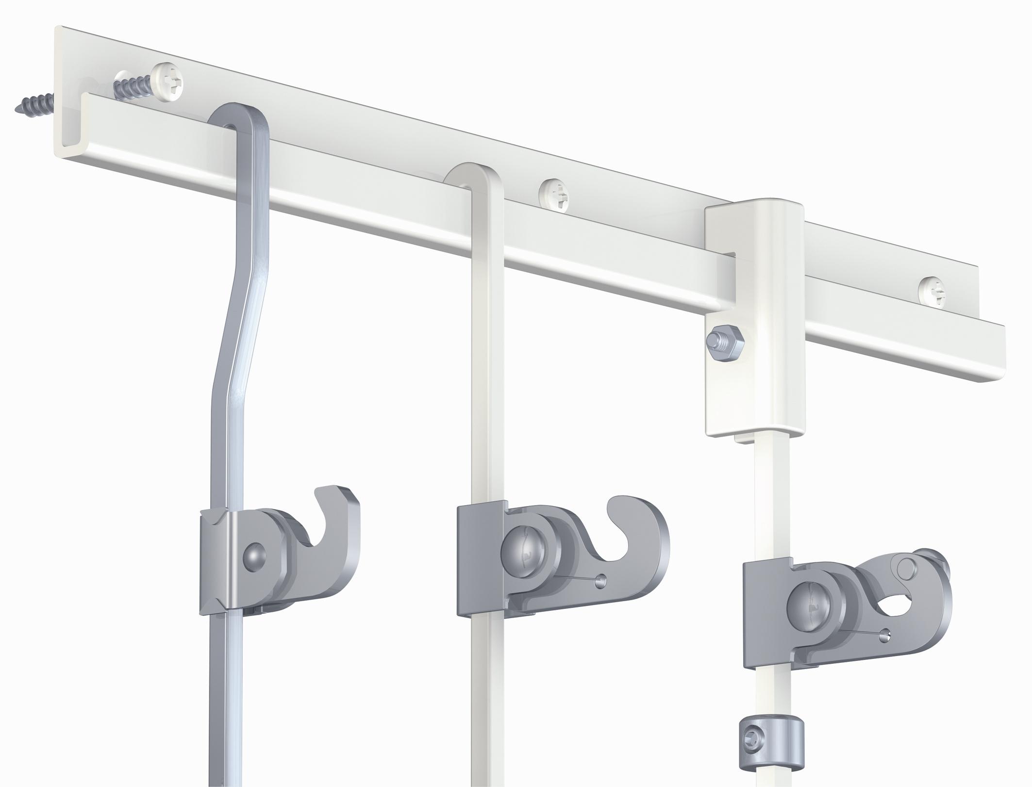Système de sécurité complet (crochet + anneau + système de blocage haut)