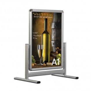 Stop trottoir vertical Cadro-Clic double faces - Affichage panneau publicitaire
