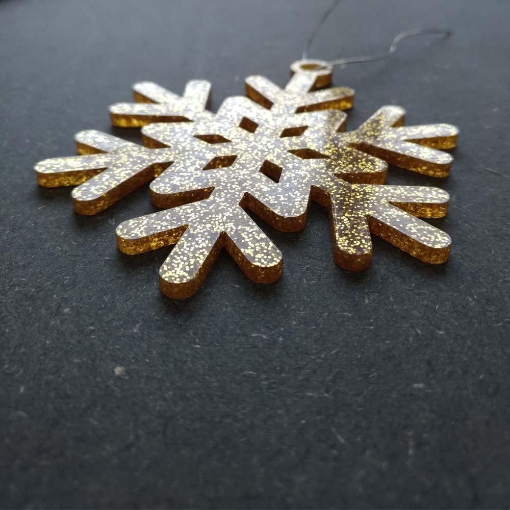 Pack 10 décorations de Noël couleur ROSES pour sapin de Noël - Décoration de Noël en acrylique par découpe laser