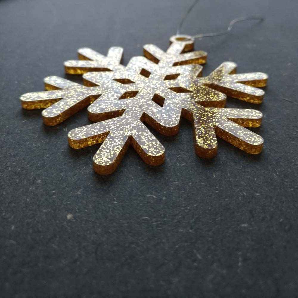 Pack 10 décorations de Noël couleur ROUGES pour sapin de Noël - Décoration de Noël en acrylique par découpe laser